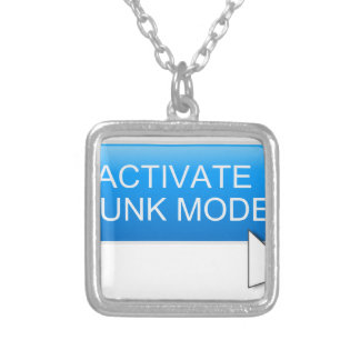 Activate hunk mode. silver plated necklace