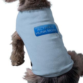 Activate hunk mode. sleeveless dog shirt