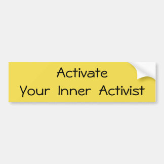 Activate - T-shirt Bumper Sticker