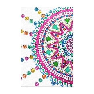 Activating Abundance Healing Mandala Canvas Print