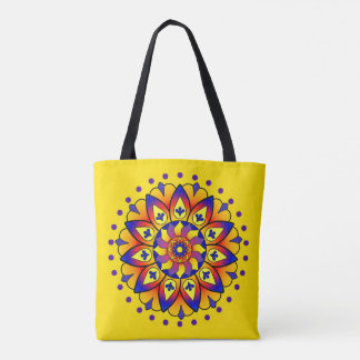 Activating Confidence Healing Mandala Tote Bag