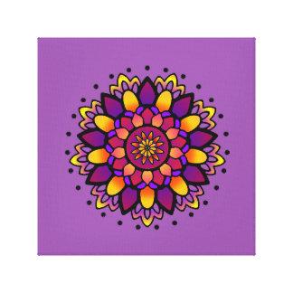 Activating Divine Wisdom Mandala Art Canvas Print