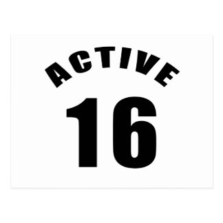 Active 16 Birthday Postcard