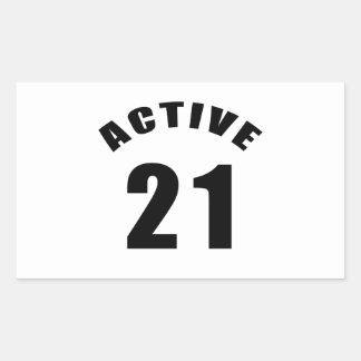 Active 21 Birthday Rectangle Sticker