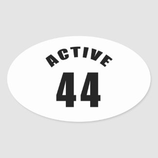 Active 44 Birthday Oval Sticker