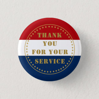 Active Duty Veteran Military Police Fire Thank You 3 Cm Round Badge