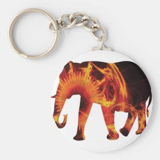 Active Elements Fresh and inspiring Elephant Art – Basic Round Button Keychain