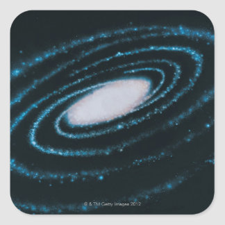 Active Galaxies Square Sticker