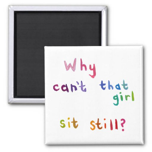 Active girls can't sit still busy women fun art refrigerator magnets