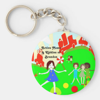 Active Moms Logo Buttons Key Ring