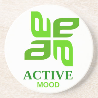 active mood drink coaster
