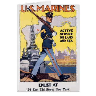 Active Service on Land and Sea Greeting Card
