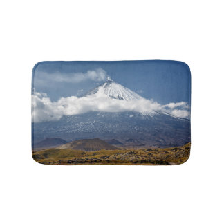 Active stratovolcano bath mat