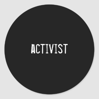 activist classic round sticker