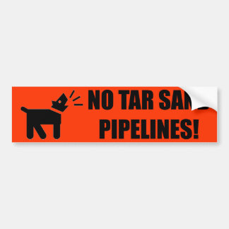 Activist Dog: No Tar Sand Pipeline Bumper Sticker