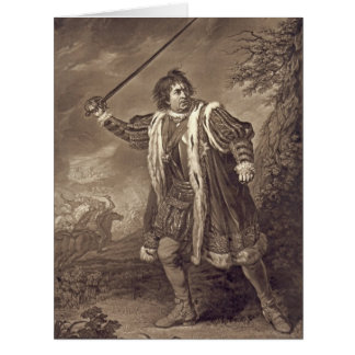 Actor David Garrick 1772 Card