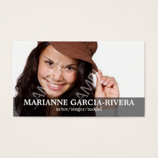 Actor Double Headshot Transparent Panel Business Card