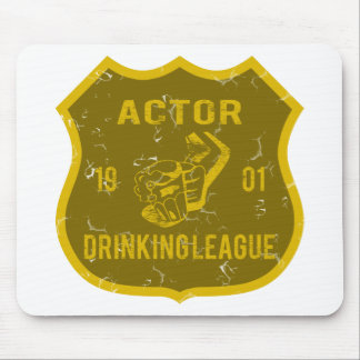 Actor Drinking League Mouse Pad
