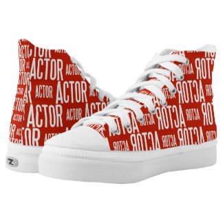 Actor high tops (red edition) women printed shoes