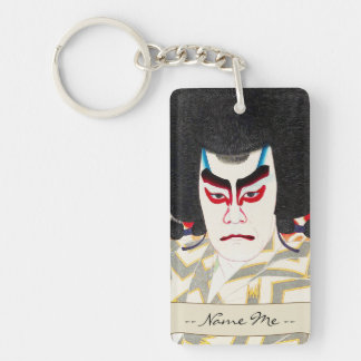 Actor Ichikawa Sadanji as Narukami Double-Sided Rectangular Acrylic Key Ring