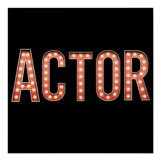 Actor Marquee Lights Poster
