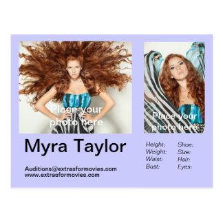 Actor/Model Headshot Postcard