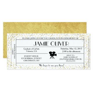 Actor / Movie theme graduation ticket announcement