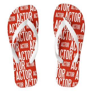 Actor (red) wide straps thongs