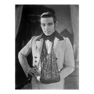 Actor Rudolph Valentino 1925 Poster