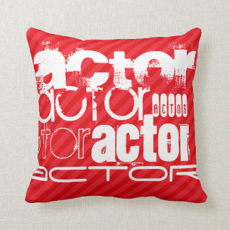 Actor; Scarlet Red Stripes Cushion