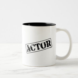 Actor Stamp Two-Tone Coffee Mug