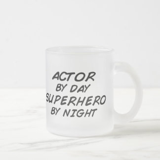 Actor Superhero by Night Frosted Glass Coffee Mug