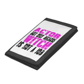 Actor Witch Tri-fold Wallets