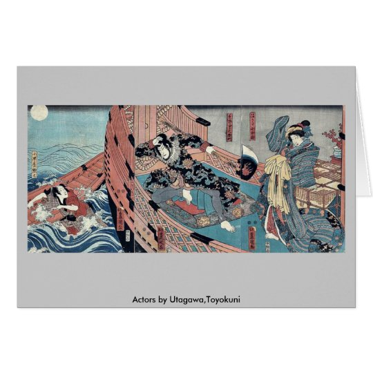 Actors by Utagawa,Toyokuni Card