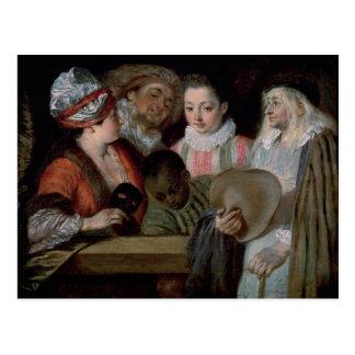 Actors from the Theatre Francais, c.1714-15 Postcard