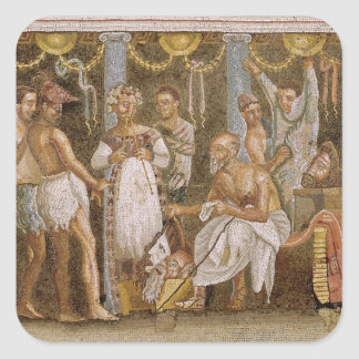 Actors rehearsing for a Satyr play, c.62-79 AD Stickers