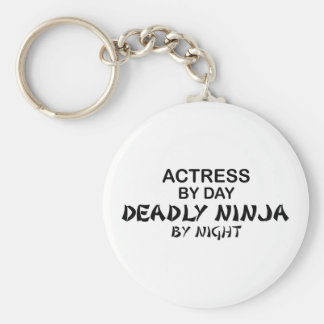 Actress Deadly Ninja by Night Basic Round Button Key Ring