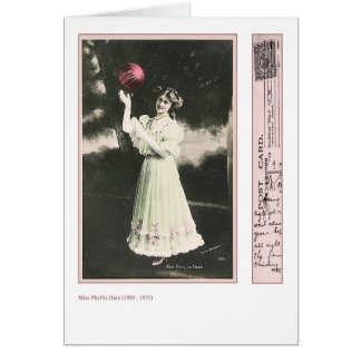 Actress Phyllis Dare Greeting Card
