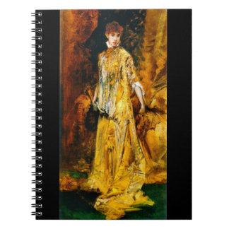 Actress Sarah Bernhardt 1881 Spiral Notebook