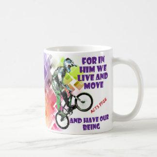 Acts 17:28 bible mug mountain biking