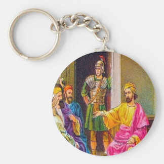 Acts 28:23-31 Paul Preaches at Rome Key Chain Basic Round Button Keychain