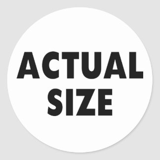 Actual Size Classic Round Sticker