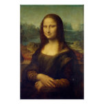 Actual Size of Mona Lisa painting print on canvas