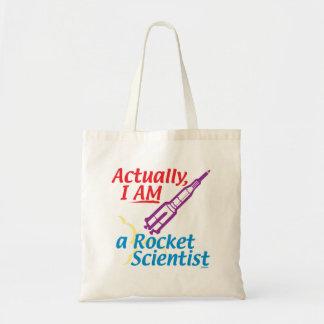 Actually, I AM a Rocket Scientist. Budget Tote Bag
