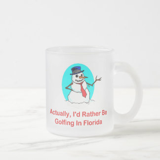 Actually, I'd Rather Be Golfing In Florida Frosted Glass Coffee Mug