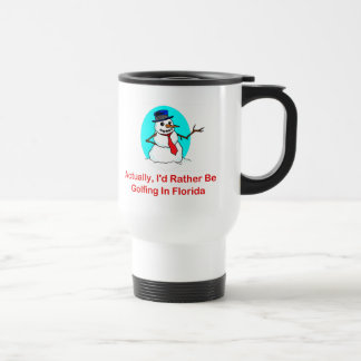 Actually, I'd Rather Be Golfing In Florida Stainless Steel Travel Mug