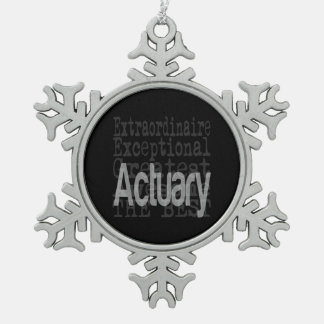 Actuary Extraordinaire Snowflake Pewter Christmas Ornament