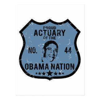 Actuary Obama Nation Postcard