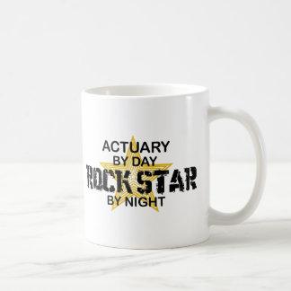 Actuary Rock Star by Night Basic White Mug