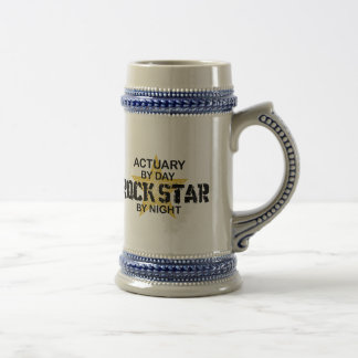 Actuary Rock Star by Night Beer Steins
